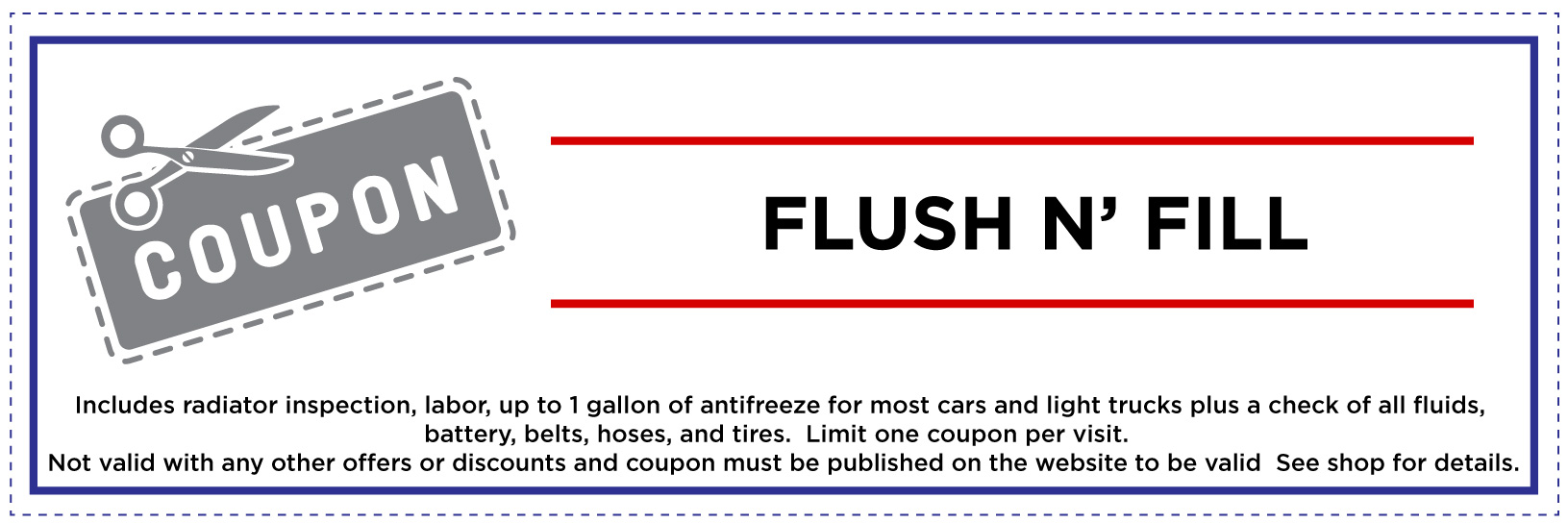 Flush and Fill Coupon for Website